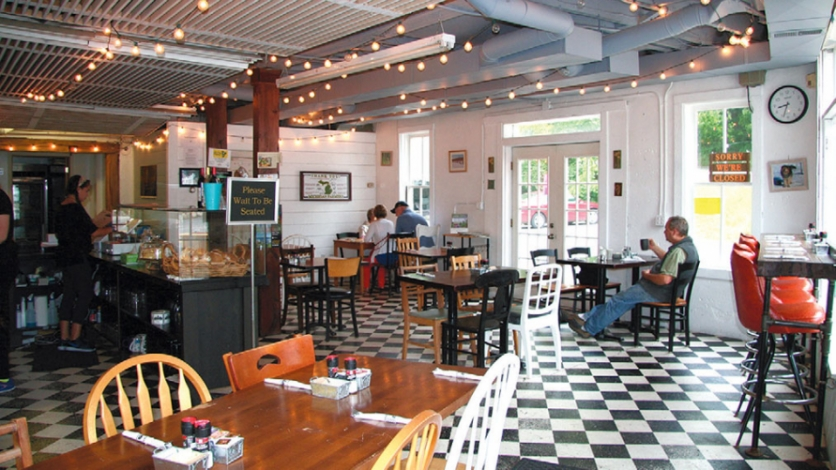Interior of Sam's Graces Cafe and Bakery