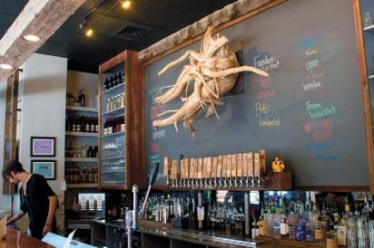 Centerpiece at the bar at Taproot