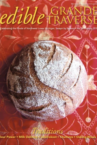 Edible Grande Traverse, Cover #34, Holiday 2014 Issue