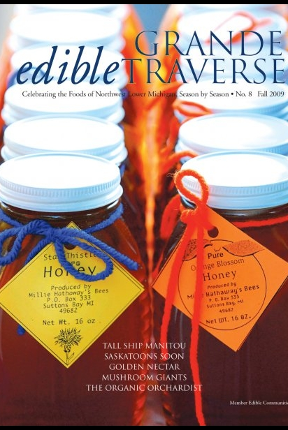 Edible Grande Traverse, Cover #8, Fall 2009 Issue