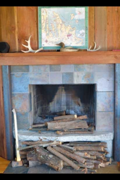 A fireplace in Sutton Bay