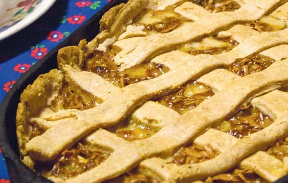 winter onion tart