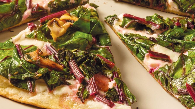 Greens and Goat Cheese
