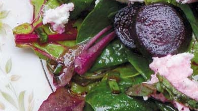 Roasted Beet, Mint, and Goat Cheese